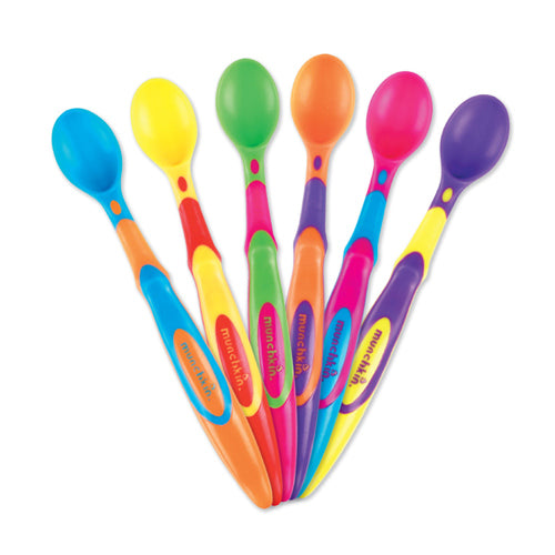 Munchkin Soft Tip Spoon 6pk - Assorted Colors