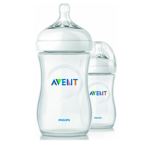 Avent BPA Free Natural Polypropylene Bottle 9 Oz 2 Pack
