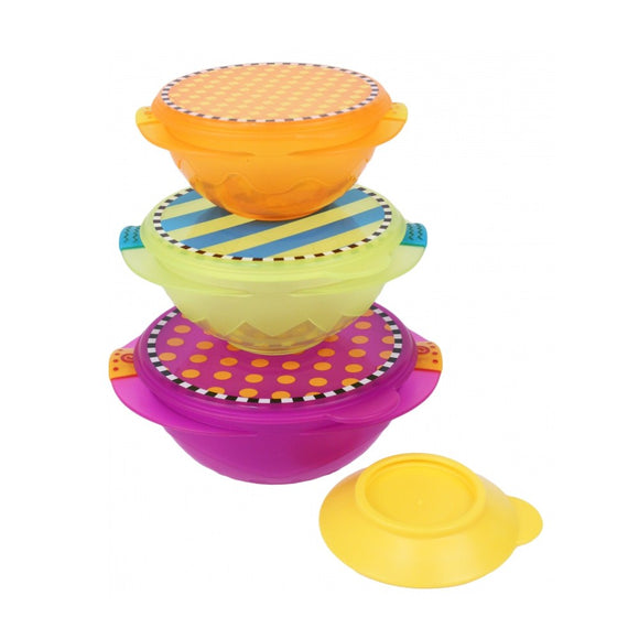 Sassy On-the-Go Snack Bowl Set