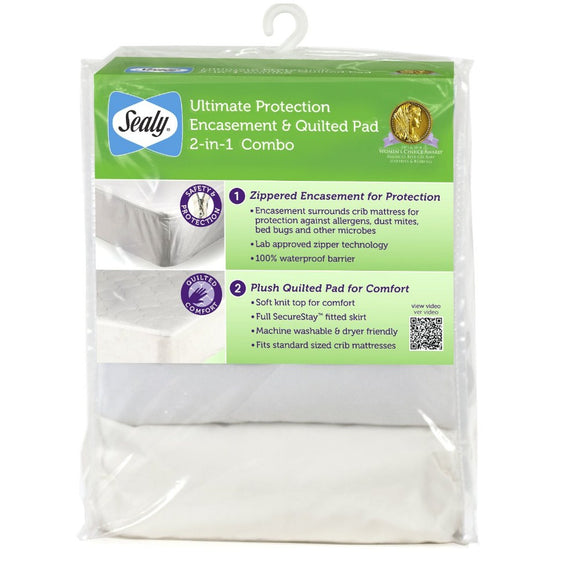 Ultimate Protection Encasement & Quilted Crib Mattress Pad Combo