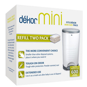 Dekor Mini Diaper Pail Refill 2 Pack