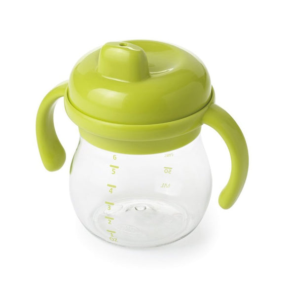 OXO Tot Transitions Sippy Cup with Removable Handles, 6oz - Green