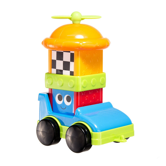 Sassy Sensory Blocks - Race Car 6pc Set