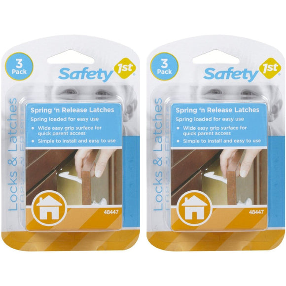 Safety 1st Spring-Loaded Cabinet & Drawer Latch - 3pk