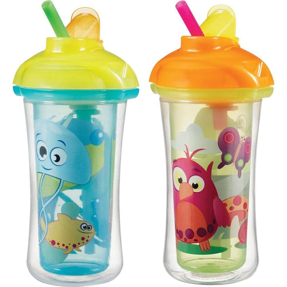 Munchkin Click Lock Insulated Straw Cup 9oz, 2 pack - Assorted Colors