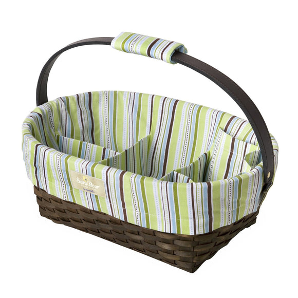 Munchkin SaraBear Portable Diaper Caddy - Green Stripes