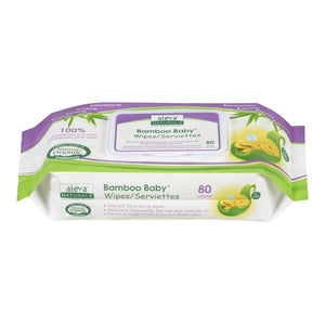 Aleva Naturals Bamboo Baby Wipes - 80 Count