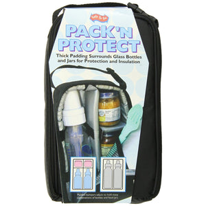 Pack N Protect Padded Bottle & Jar Tote - Black