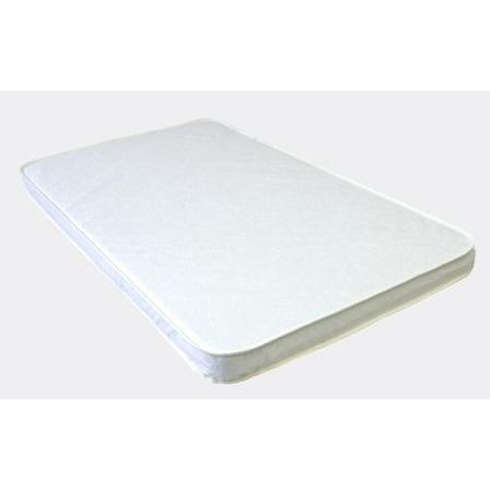 Babyluxe Porta-crib Quilted White Vinyl Pad 3