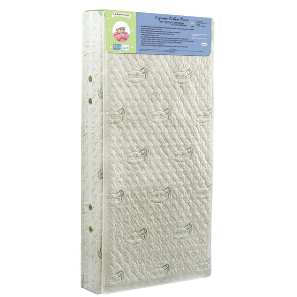 Babyluxe Pillow Top Mattress With Organic Cotton Cover - White