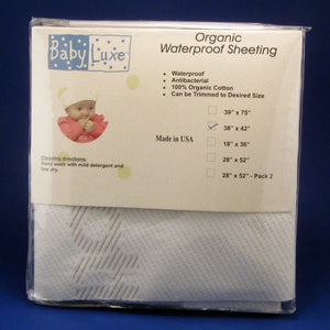 "Babyluxe Organic Waterproof Sheeting - 28"" x 42"""