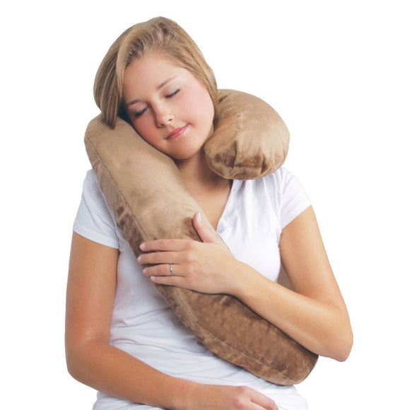 Leachco Dozie Roll Plush Travel Pillow - Espresso