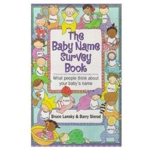Baby Name Survey Book