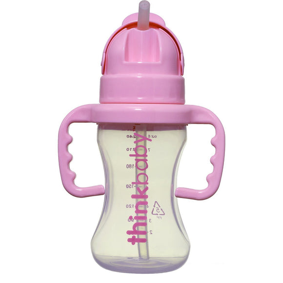Thinkbaby Thinkster 9oz Straw Bottle - Pink