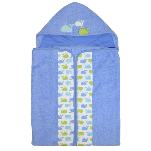 Just Born Sea Brights Hooded Bath Wrap