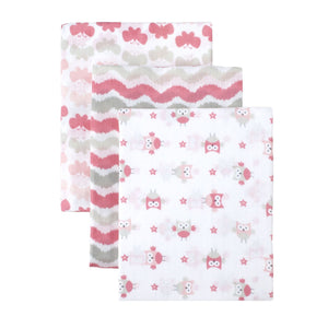 Just Born Muslin Swaddle Blanket 3pk