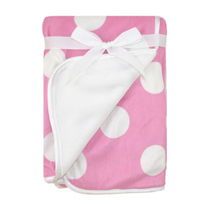Just Born Valboa Blanket with Plush Dots