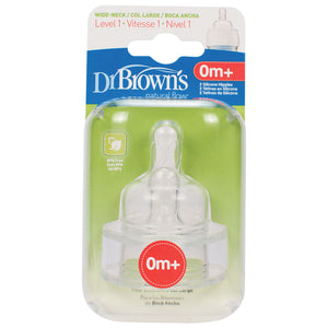 Dr. Brown's Natural Flow Wide Neck Nipples - Multipacks