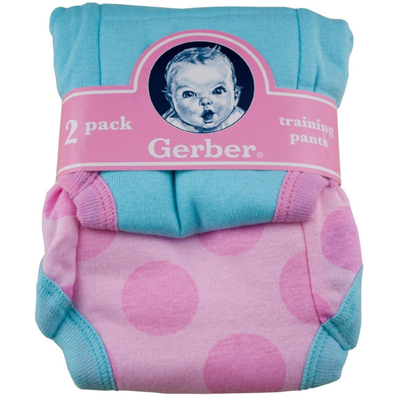 Gerber Training Pants 2 Pack - 3T (Pink)