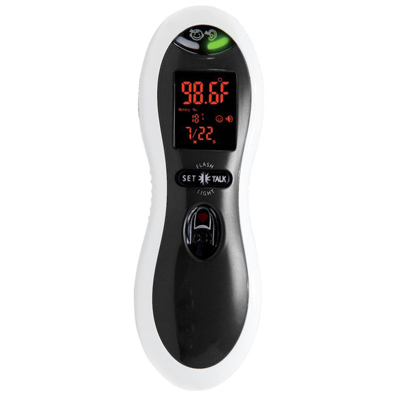 MOBI DualScan ULTRA PULSE Talking Ear and Forehead Thermometer with Puls