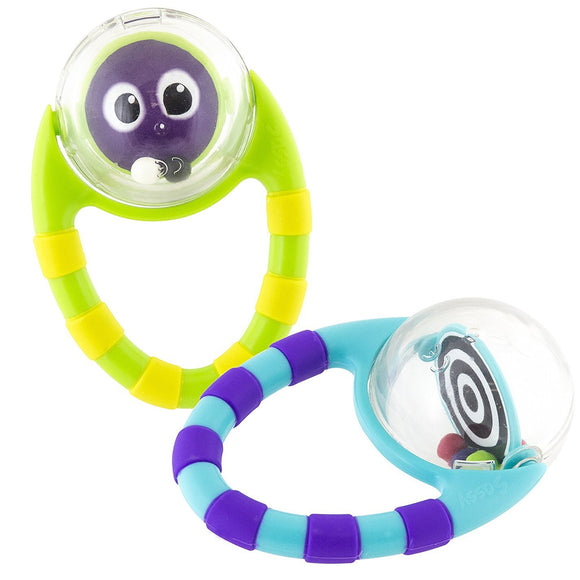 Sassy Flip & Grip Rattle 2pk - Colors May Vary