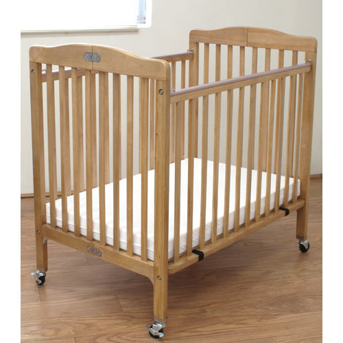L.A. Baby Compact Folding Wood Commercial Crib