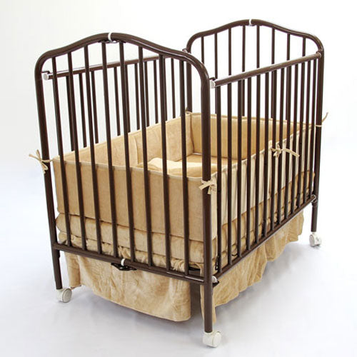 L.A. Baby Commercial Compact Folding Metal Crib