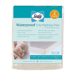 Sealy Waterproof Mattress Pad - 2 pack