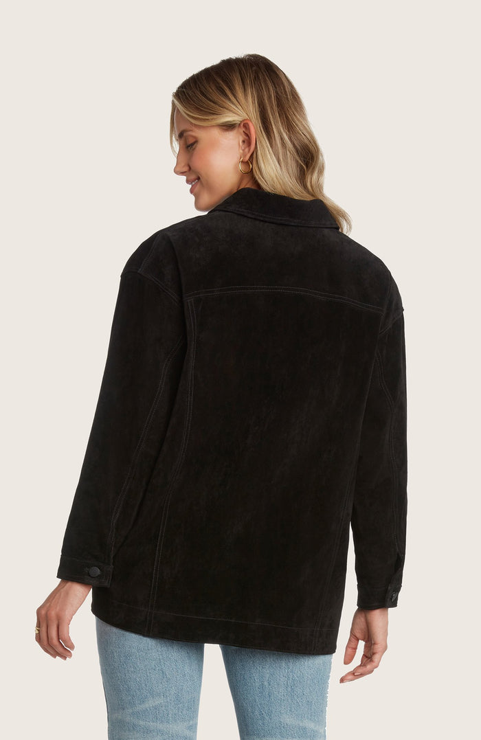 Willow-dom-jacket-suede-classic-relaxed-fit-structured-collared-light-weight-stictching-black-sand