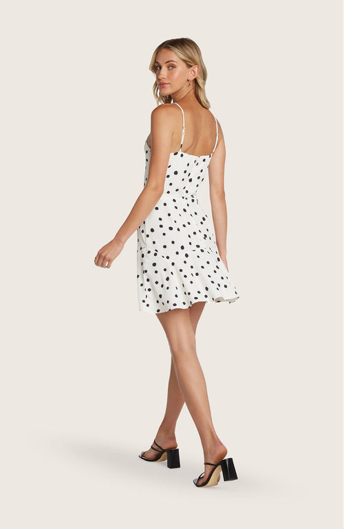 Willow-freddie-dress-leopard-polkadot-print-mini-cowl-neck-flowy-skirt-adjustable-straps-black-white-slip
