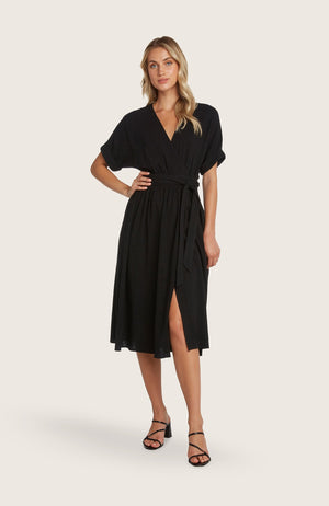 Willow-hellen-dress-wrap-style-vneck-short-sleeve-linen-midi-length
