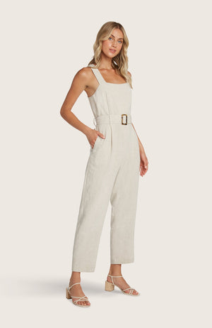 willow-johnson-jumpsuit-jumper-cropped-pants-straight-leg-removable-belt-tank-black-sand-tortoise-shell-buckle