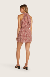 Willow-kathleen-dress-halter-mini-length-berry-red-print-tiered-skirt-elastic-waist-lined-shorts