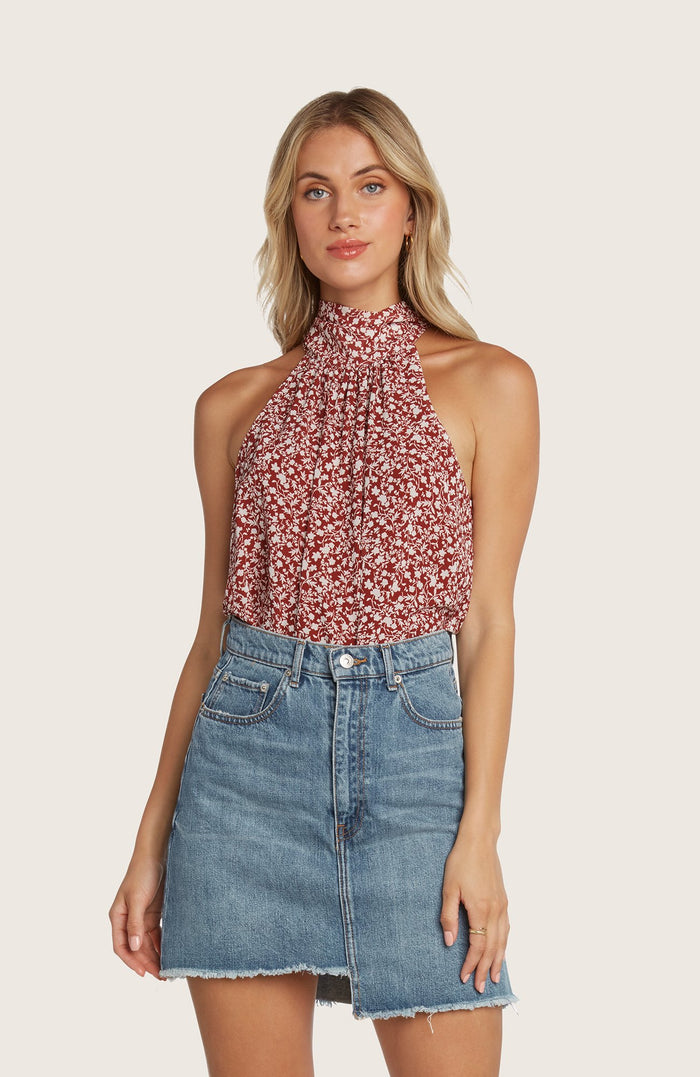 Willow-shannon-halter-neck-top-red-berry-tie-printed-matching-set