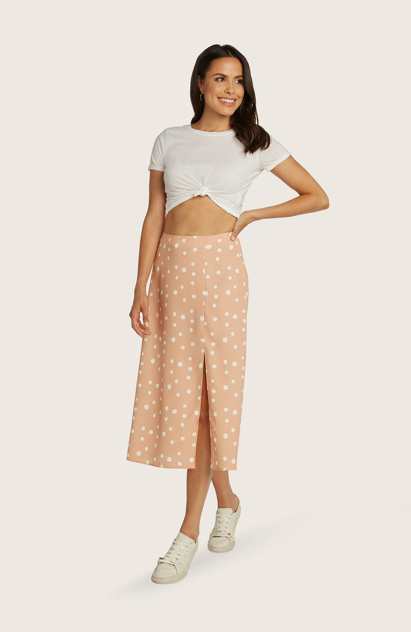 willow-dede-skirt-midi-length-printed-slit-highwaist-aline-sorbet-orange
