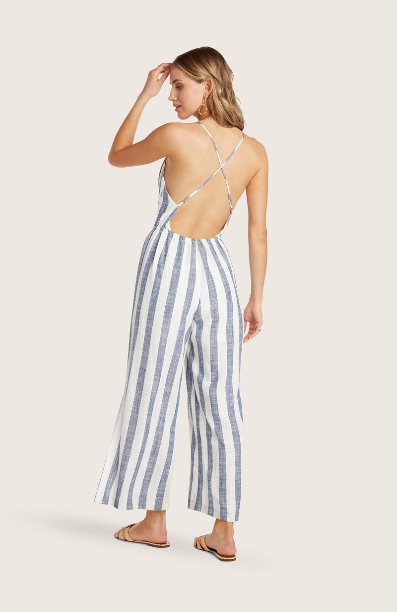 willow-eli-jumpsuit-striped-cropped-wide-leg-pants-side-slit-adjustable-spaghetti-straps-indigo-blue-white