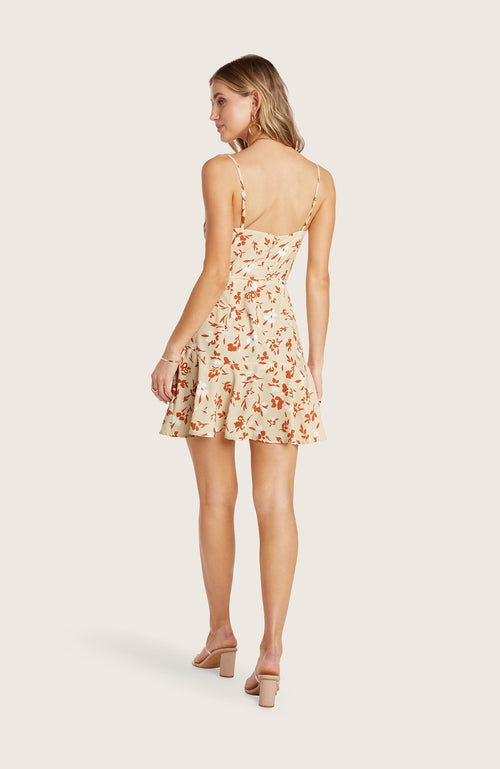 Willow-freddie-dress-mini-cowl-neck-flowy-skirt-adjustable-straps-slip-cantaloupe-orange