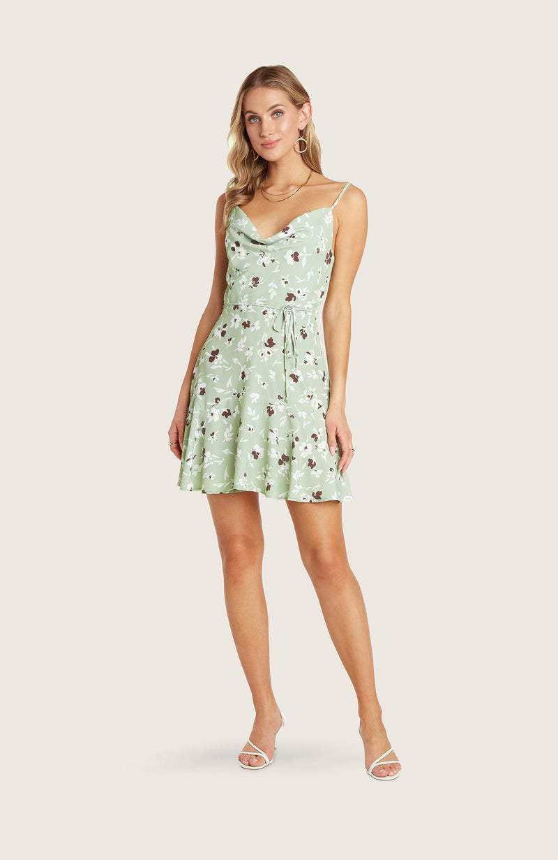 Willow-freddie-dress-pistachio-green-floral-print-mini-cowl-neck-flowy-skirt-adjustable-straps-slip