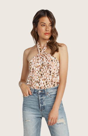 Willow-irma-halter-neck-top-grapefruit-pink-yellow-printed-tie-open-back