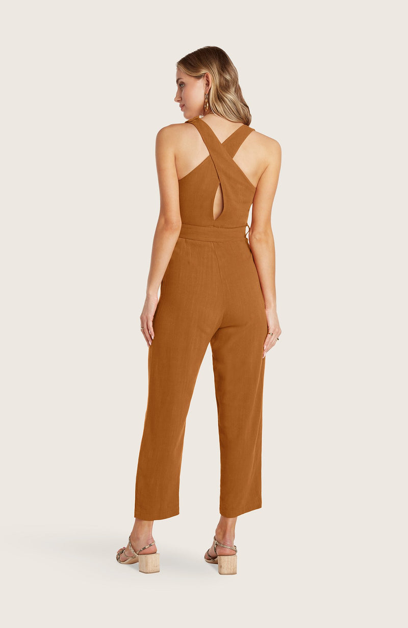 willow-johnson-jumpsuit-jumper-cropped-pants-straight-leg-removable-belt-tank-terracotta-red-tortoise-shell-buckle