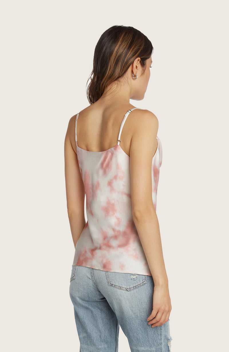 Willow-julia-slinky-slip-cowl-neck-tank-top-adjustable-spaghetti-straps-blush-pink-white-tie-dye