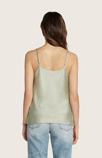 Willow-julia-slinky-slip-cowl-neck-tank-top-adjustable-spaghetti-straps-pistachio-green