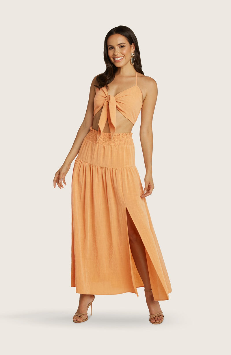 willow-julie-two-piece-set-maxi-skirt-tie-front-crop-top-orange