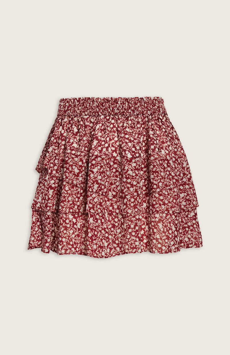Kathleen Skirt inspired by Kathleen Post in Berry Red Print by WILLOW Women's Clothing
