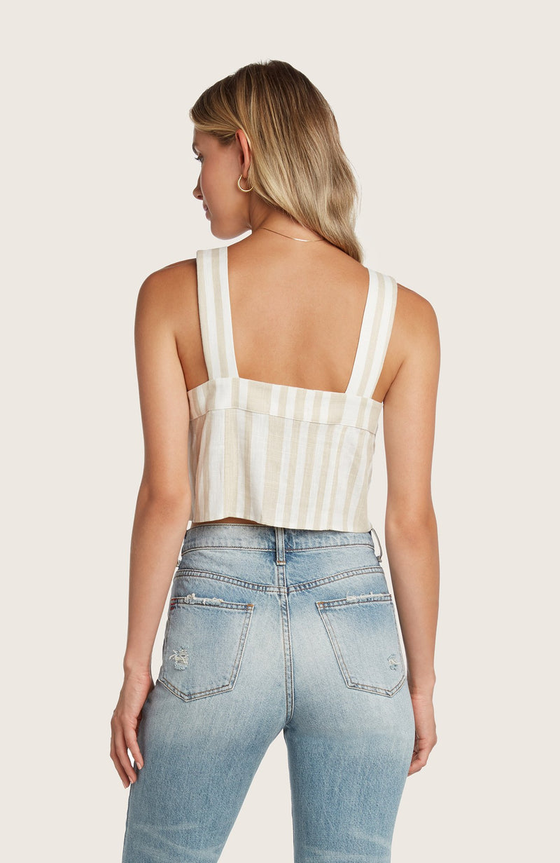 Willow-leo-crop-top-sand-white-stripped-button-front-matching-set