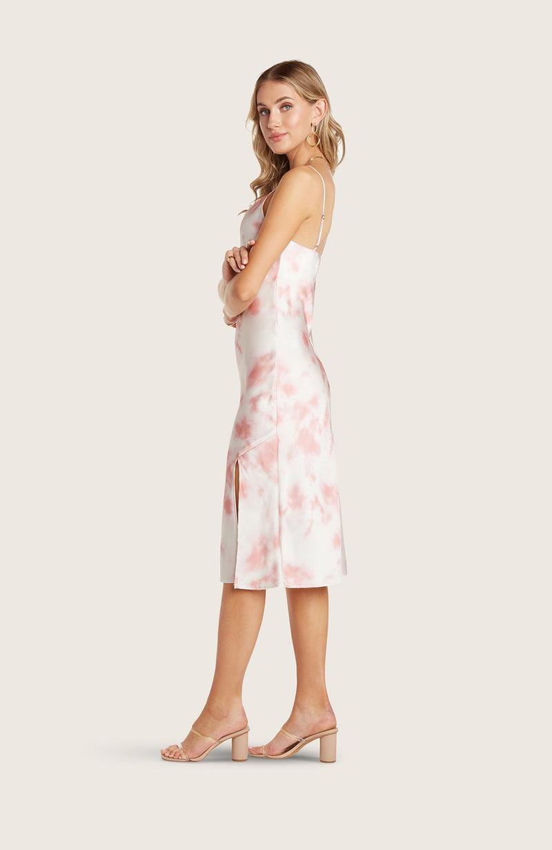 Willow-paige-dress-slip-silky-blush-pink-white-tie-dye-vneck-adjustable-straps-spaghetti-straps-midi-length-high-slit