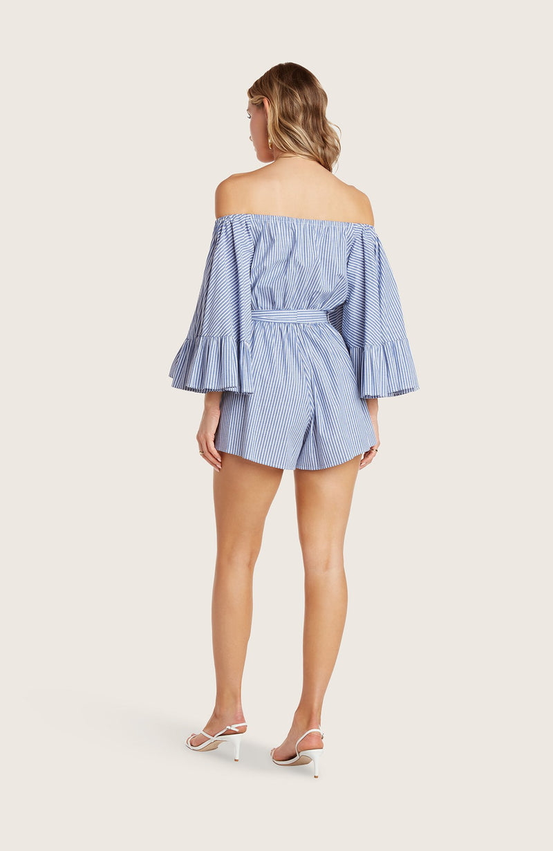 willow-sam-romper-off-the-shoulder-flutter-sleeve-removable-waist-tie-indigo-blue-white-striped