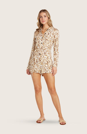 willow-tessa-romper-jumpsuit-jumper-shorts-long-sleeve-removable-belt-collar-pockets-printed-tortoise-shell-buttons-safari-style-spring-light-weight-breathable-comfortable