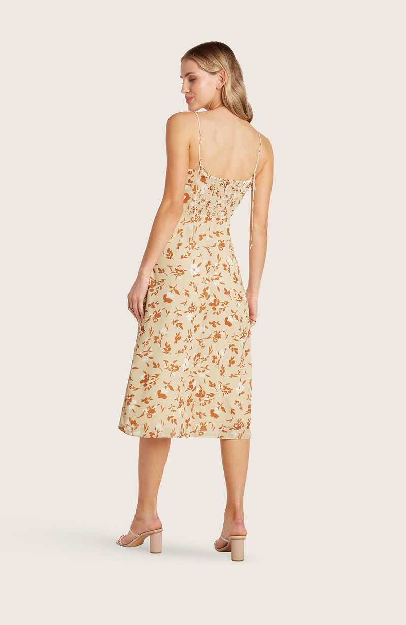 willow-wendy-dress-midi-length-date-night-simple-fitted-square-neck-spaghetti-straps-cantaloupe-orange-floral-printed