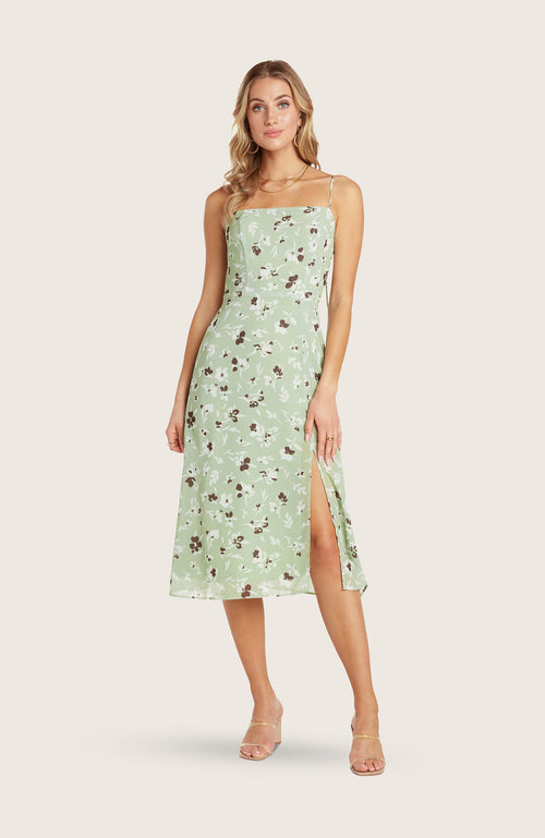 willow-wendy-dress-midi-length-date-night-simple-fitted-square-neck-spaghetti-straps-pistachio-green-floral-printed